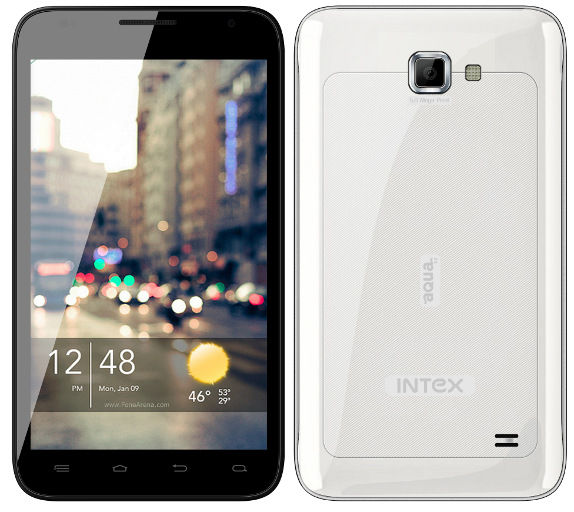 Intex-Aqua-5.0 Dual core IceCream Sandwich Android Phablet