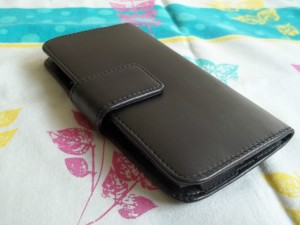 Micromax canvas HD A116 smooth leather holster case