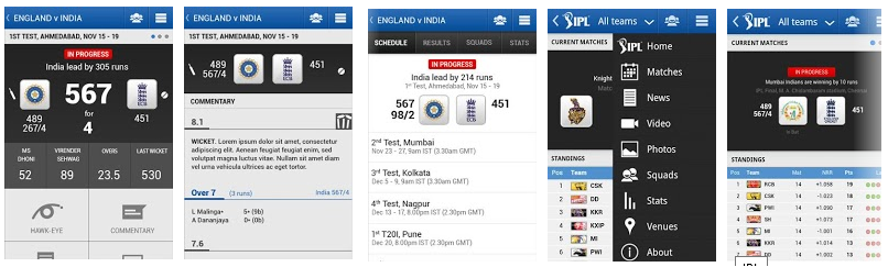 BCCI Mobile App -Best IPLT20 2013 Live Cricket Apps For Android & iOS Phones- Top 5