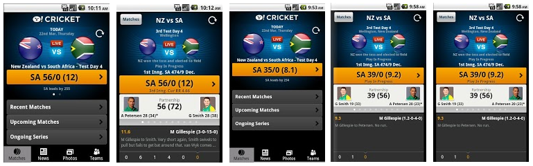 Yahoo! Cricket App -Best IPLT20 2013 Live Cricket Apps For Android & iOS Phones- Top 5
