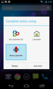 How to install and use a Android launcher app