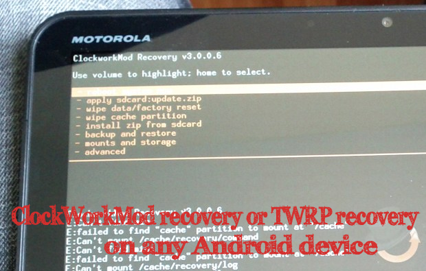 How to install ClockWorkMod recovery or TWRP recovery on any Android device