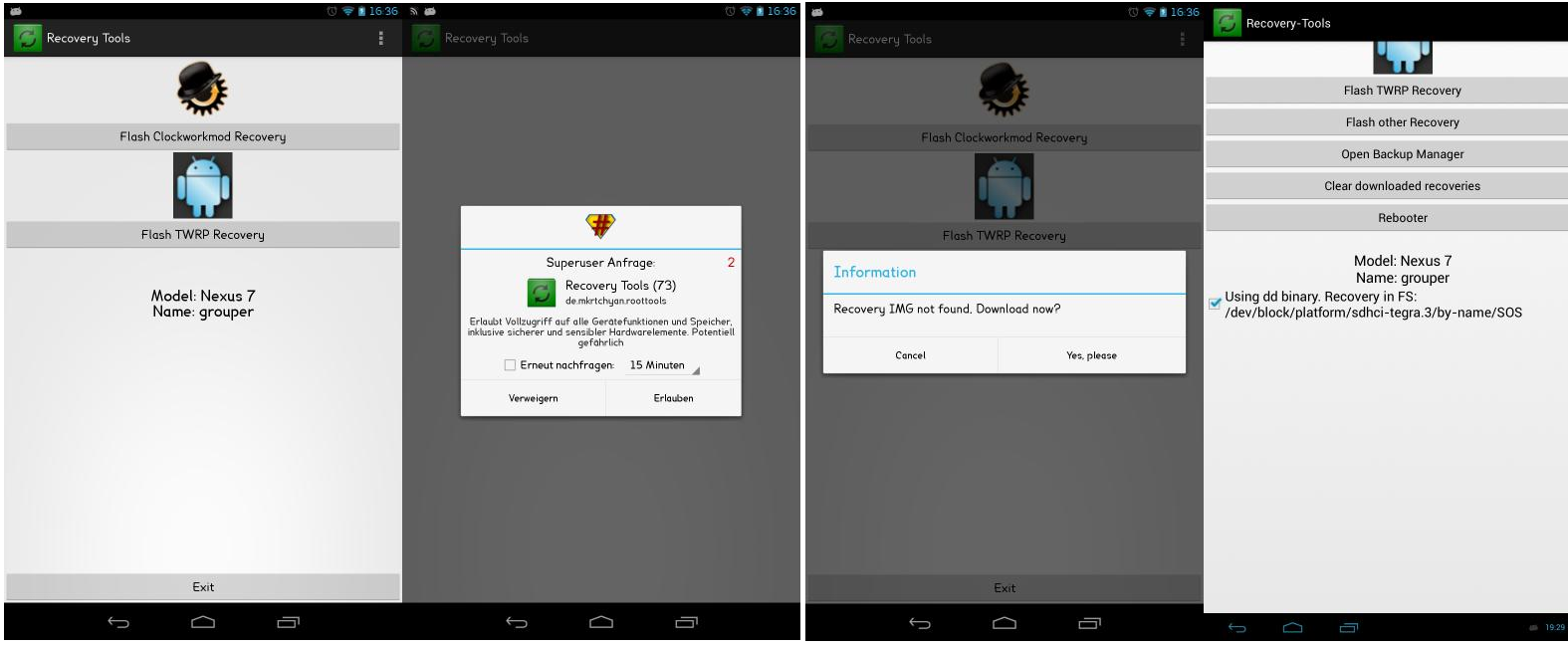 How to install ClockWorkMod recovery or TWRP recovery on any Android