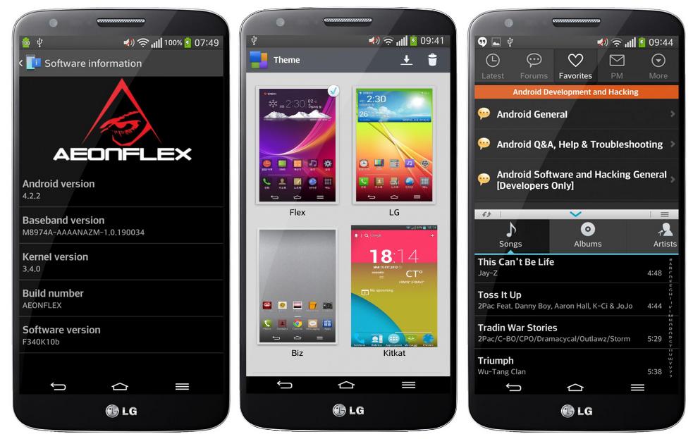 Aeonflex LG G Flex Custom rom for LG G2 AT&T - Best custom rom