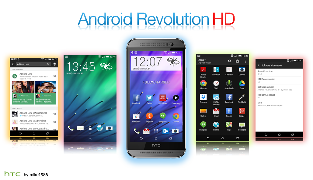 Android Revolution HD for HTC One M8 - Best Custom rom for HTC One M8