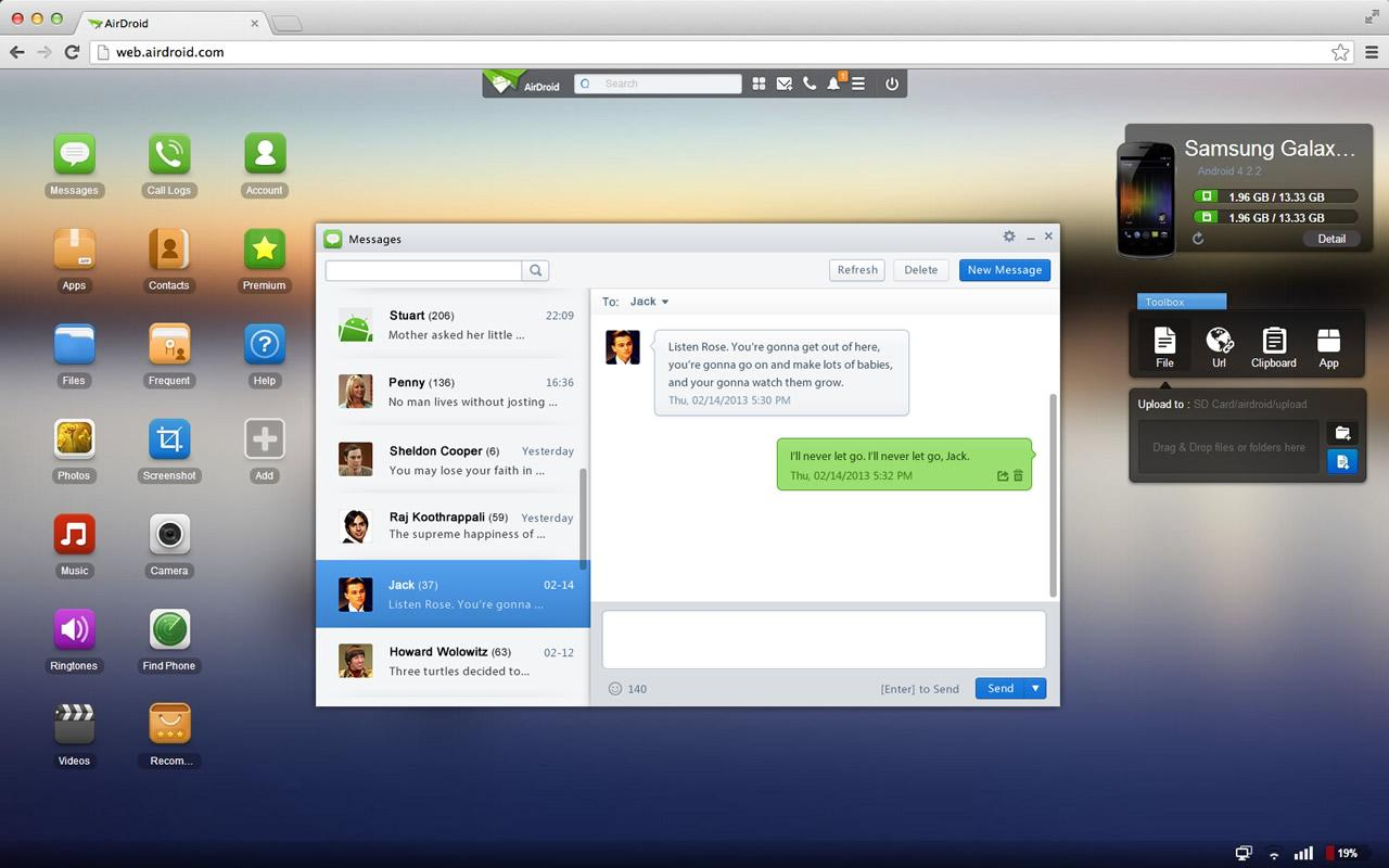 AirDroid - Get Android notifications on Desktop PC
