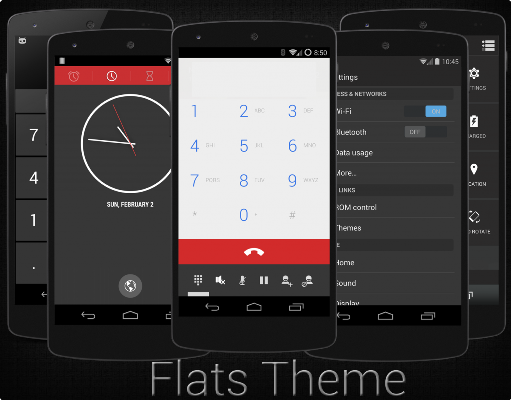 Flats theme - Best Custom theme for CyanogenMod firmware