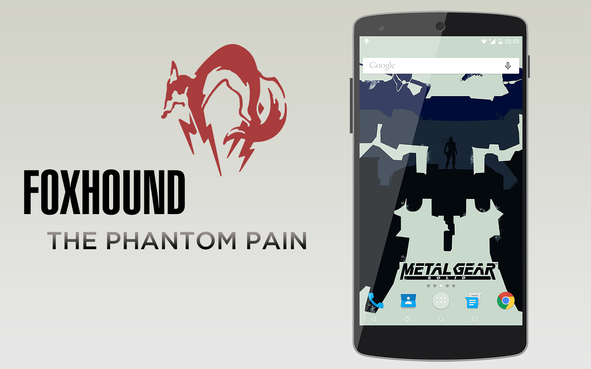 FoxHound The Phantom Pain - Android 5-0 Lollipop ROM