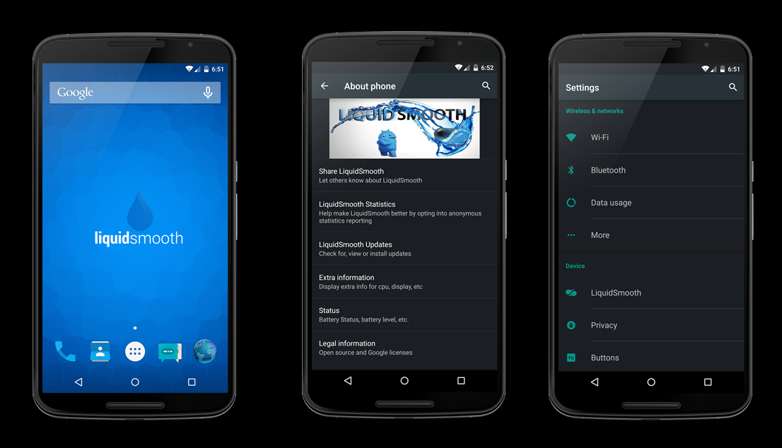 Liquid Smooth - best custom rom for Nexus 6